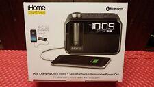 iHome Dual Charging Clock Radio / USB Charging Speakerphone with 2 Batteries