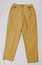 Gloria Vanderbilt women's jeans tan size 14 100% cotton