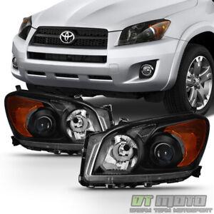 For 2009 2010 2011 2012 Toyota RAV4 Projector Headlights Blk Headlamp Left+Right