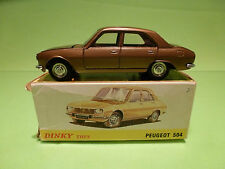 DINKY TOYS 1452  PEUGEOT 504 - BRONZE 1:43 - RARE SELTEN - EXCELLENT IN BOX