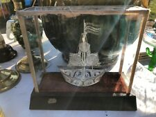 Vintage solid silver filagree Boat And Glazed Box