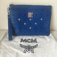 Genuine MCM Clutch With Logo Print Bag Pouch