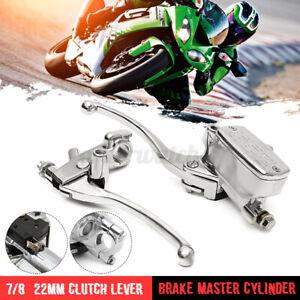 7/8'' Bike Motorcycle Handlebar Master Cylinder Hydraulic Brake Control + Clutch