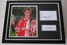 Steve McManaman SIGNED FRAMED Photo Autograph 16x12 display Liverpool AFTAL COA