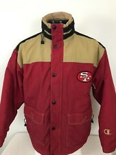 San Francisco 49ers Champion Jacket Embroidered Patch Hoodie Zip Men Large L