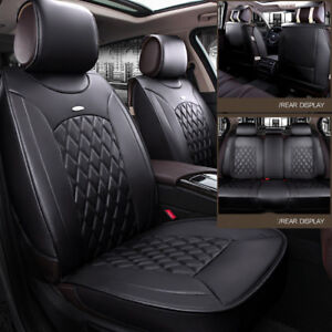 Full set  PU Leather 5 seats Car Seat Cover Universal Fit  Cushion