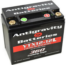 "Antigravity AGYTX12-12 ""L"" Lithium Motorcycle 360CCA 12 Cell Lightweight Battery"