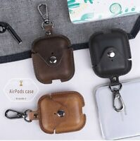 Genuine Leather Bluetooth Wireless Earphone Case for AirPods 2 Protective C I9Y3
