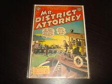 MR DISTRICT ATTORNEY #33  Golden Age Pre-Code Crime  DC Comics 1953 VG-