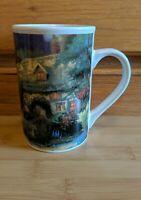 Vintage 1998 THOMAS KINKADE COBBLESTONE VILLAGE MUG Designpac Coffee Cup