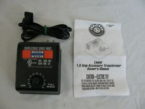 Lionel Trains 1.8 Amp 18v AC Transformer Power Supply #6-32923 EX