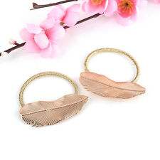 2Pcs Hair Band Rope Lady Holder Leaf Headband Women Ponytail Elastic Accessories