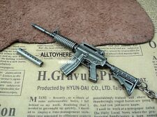1/6 BattleField Weapon USA ARMY M4A1 -SD Assault Rifle Silencer Metal Keychain