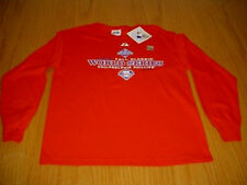 NEW WT MLB PHILADELPHIA PHILLIES WORLD SERIES RED LS T-SHIRT BOYS L MAJESTIC