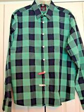 men's Untuckit shirt size large green black large checks