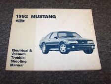 1992 Ford Mustang Electrical Wiring & Vacuum Diagram Manual GT LX 2.3L 5.0L V8