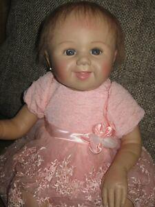 "Happy Smiling Reborn Baby Doll By Sandy Faber ADG- 19""- Lifelike- Ashton Drake"