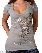 T-Shirt femme MC LOVE SHOVEL - Taille L - Style BIKER HARLEY