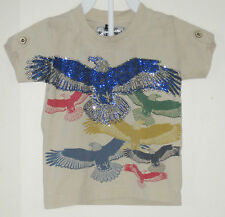 TRADEMARK COMPANY SKETCH Size 18 Months Brown Born to Fly Tops ~ Shirt