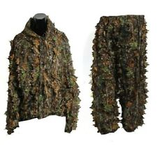 3D Leaf Adults Ghillie Suit Woodland Camo/Camouflage Hunting Deer Stalking F4C6