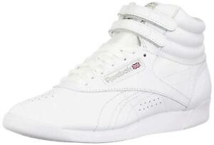 Reebok Womens CN3728 Hight Top Lace Up Fashion Sneakers, White/Silver, Size 6.5