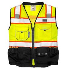 Vero1992 C Vest Mens Class 2 Black Series Safety Vest With Zipper