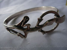 Silver Hook Bracelet With A Gecko Lizard A Fine Very Rare Vintage Sonya Sterling