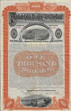 NEW YORK 1899 Philadelphia Reading & New England Railroad Co Bond Stock Certific