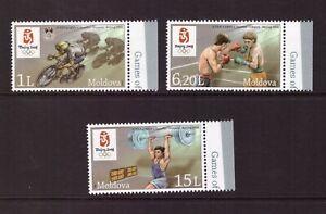 Moldova 2008 Olympic Games - China set MNH mint stamps