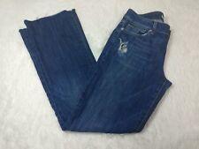 Joe's Jeans womens sz 28 honey fit cropped frayed exposed hem distressed denim