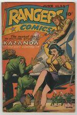 Rangers Comics (1941) #23 Japanese WWII GGA Lingerie Panels 1st Kazandra GD/VG