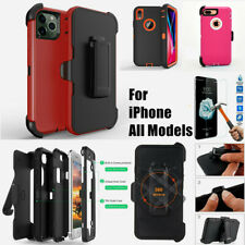 For Apple iPhone Shockproof Denfender Case Cover with Belt Clip+Screen Protector