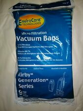 KIRBY 9CT GENERATION 3 G4 G5 G6 VACUUM CLEANER BAGS, ENVIROCARE ALLERGEN, NEW