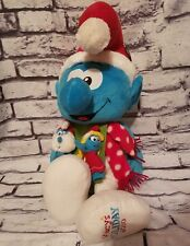 "MACYS CHRISTMAS SMURF SANTA HAT WITH FINGER PALS PUPPETS 20"" SMURFETTE PAPA"
