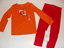 Gymboree Holiday Cozy Cutie Girls Size 5 Girl Shirt Top Red Leggings NWT NEW