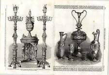 1862 figure di vetro Phillips Oxford Street VASO Candelabri