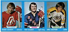 1973-74 Topps ROD GILBERT GREGG SHEPPARD 1/1 Blank Back Uncut Sheet Strip Vault