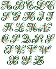"ABC Designs Wildwood Ivy  Font Machine Embroidery Designs 5""x7"" Hoop"