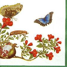 4x Papier Servietten für Decoupage Decopatch Craft Dipladenia rot