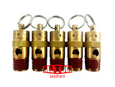 "All Tool Depot ST Series Brass ASME Safety Valve 1/4"" NPT 200 PSI x 5 Pieces"