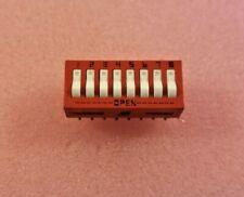 GRAYHILL #76SB08 Thru Hole Dip Switches Rocker Series 76 SPST 16-Pin DIP, Qty. 2