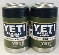 2 YETI Rambler Olive Green COLSTER 12oz w/ Yeti Pop Top Limited Edition CAN NEW