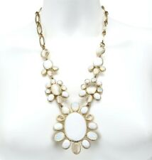 Nordstrom Womens Sideways Shell Floral statement Chain Link Necklace