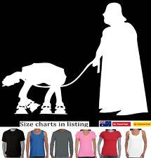 Star Wars Droid Dog T-Shirt Darth Vader walking dog  - Dog Walker Aussie Store