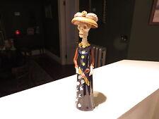 """Day of the Dead Catrina Figurine 10 1/4"""" Mexican Folk Art Dia de los Muertos"""