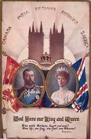 Vintage British Royalty Postcard, Commonwealth , George V & Mary.  ct14