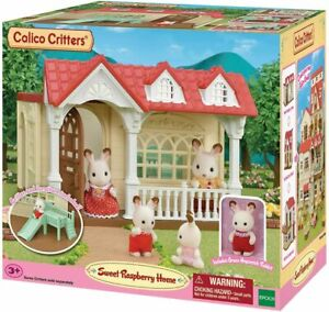 Calico Critters Sweet Raspberry Home  + bonus bath & kitchen extras