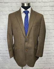 Brooks Brothers Fitzgerald Fit Mens Brown Herringbone Wool Blazer Sport Coat 45R