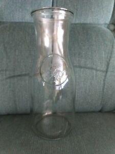 "ANCHOR HOCKING ? Libby ? Milk Bottle Clear Glass Paul Revere  Horse vintage 9"""