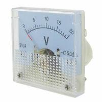 DC 20V Square Analog Volt Voltage Panel Meter Voltmeter Gauge Tool 91C4